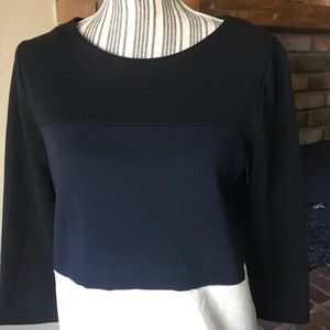 Madewell Tops - Madewell Gallerist Ponte Colorblock Top Sz M